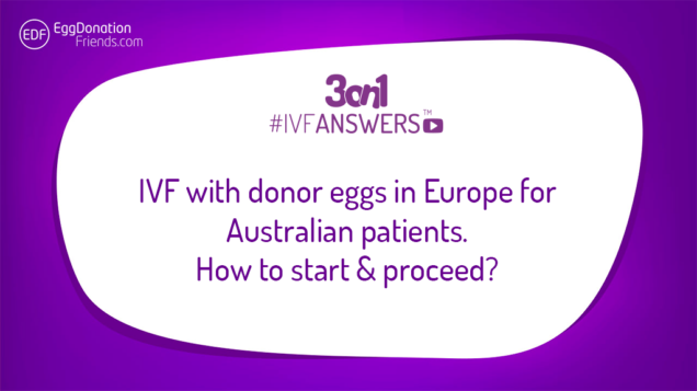 IVF donor eggs in Europe for Australian patients