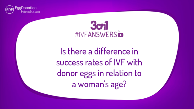 Is there a difference in success rates of IVF with donor eggs in relation to a woman's age? IVFanswers