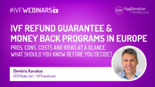 IVF refund guarantee & money back programs in Europe. Pros, Cons, Costs and risks at a glance. How to decide? #IVFWEBINARS with Dimitris Kavakas - IVFtravel.com,