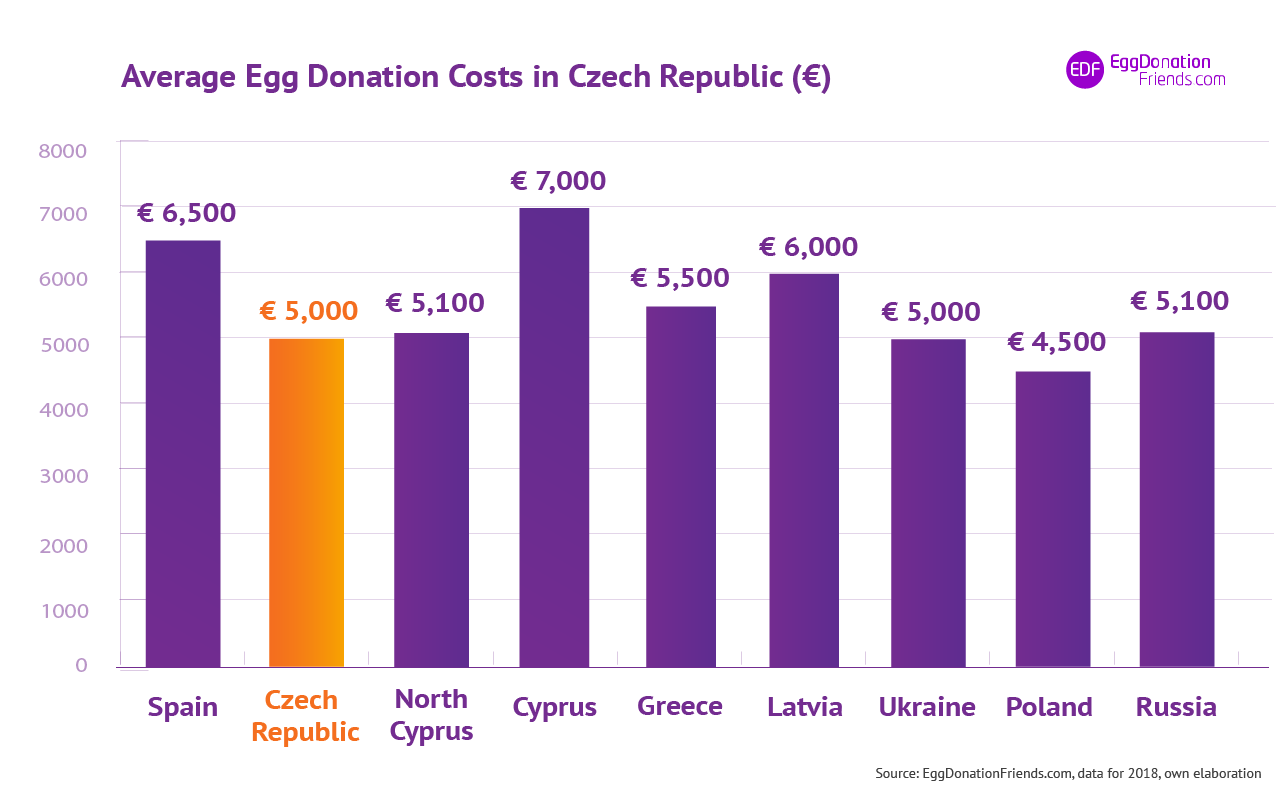 IVF egg donation costs - Czech Republic