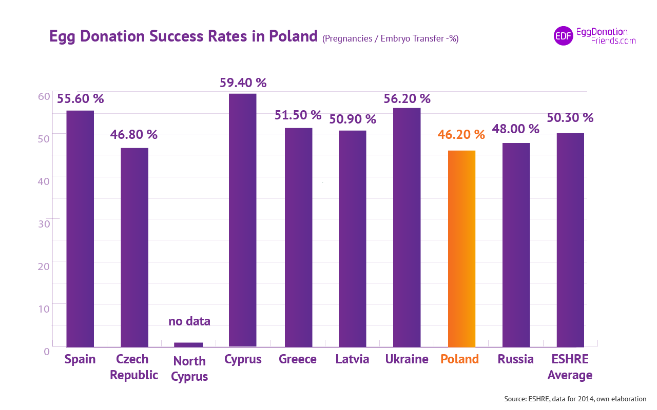 IVF egg donation success rates - Poland