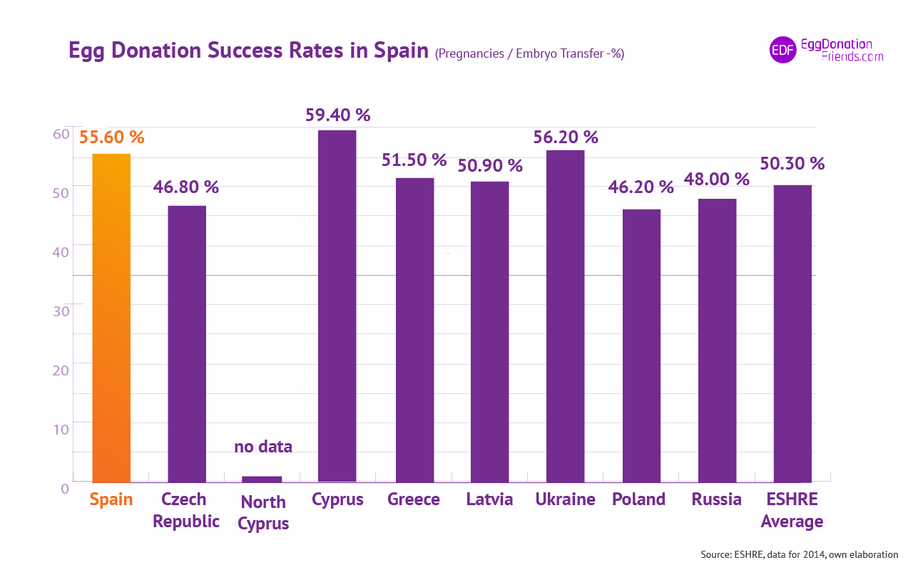 IVF Egg donation success rates - Spain
