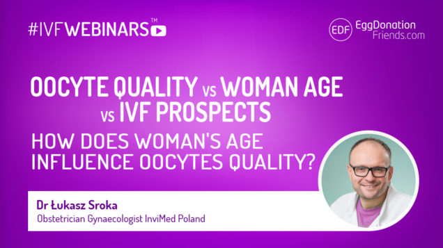 #IVFWEBINARS Oocyte quality vs. woman age vs. IVF prospects. How does woman's age influence oocytes quality? Dr Łukasz Sroka from InviMed