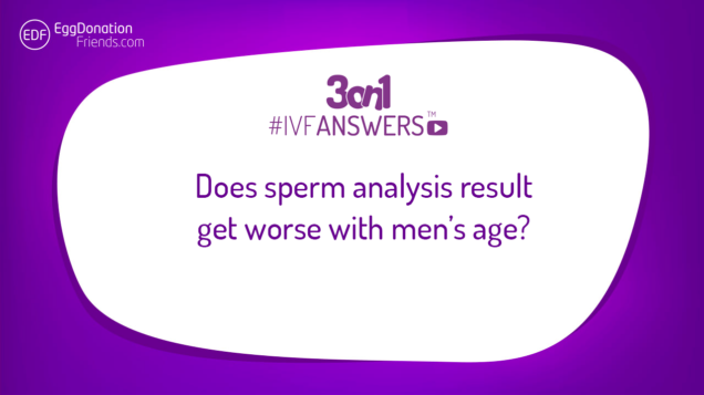 Does sperm analysis result get worse with men's age? | #IVFANSWERS
