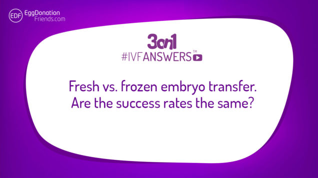 Fresh vs frozen embryo transfer - are the success rates the same? | #IVFANSWERS