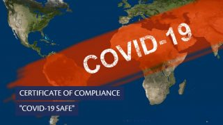 Certificate of Compliance COVID-19 safe by Temos International